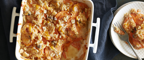 Crunchy Scalloped Sweet Potato Bake