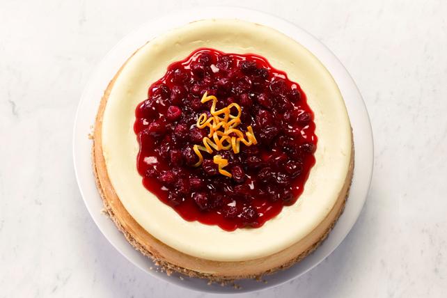 Gâteau au fromage au chocolat blanc, à l'orange et aux canneberges Image 1