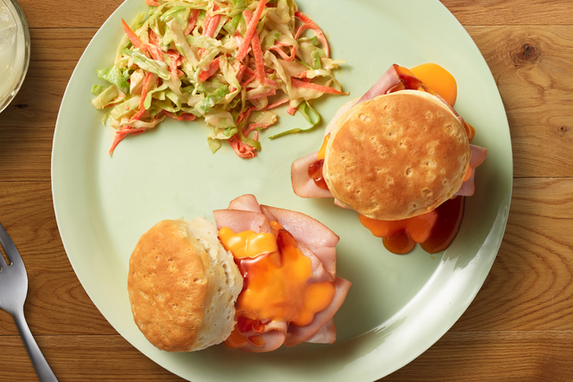 VELVEETA® Sweet-and-Cheesy Biscuit Sliders Image 1