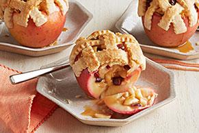 Manzanas horneadas con pay de manzana