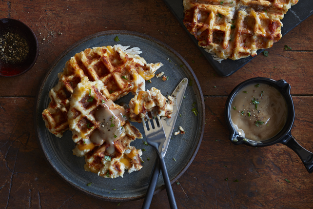 Savoury Turkey and Cheese Waffles