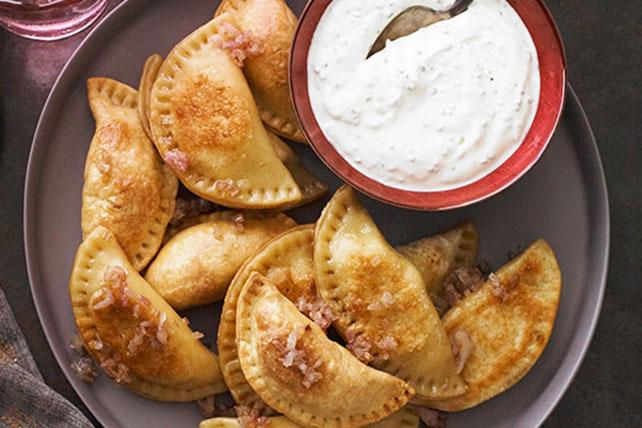 Potato Pierogi with Sour Cream-Chive Sauce Image 1