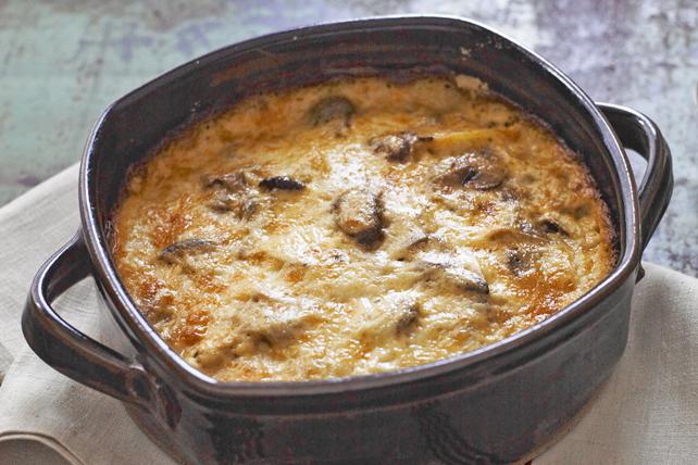 Gratin de pommes de terre avec mélange de champignons Image 1