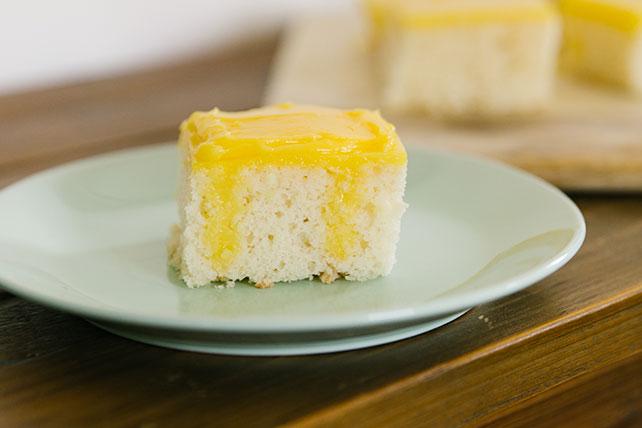 Gâteau à trous au pouding au citron Image 1
