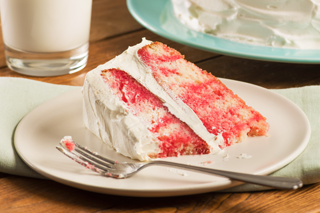 JELL-O Strawberry Poke Cake Image 1