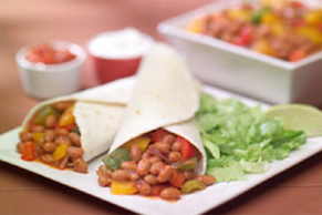 Pepper-and-Bean Fajitas