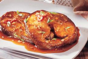 Filets de morue à la sauce wasabi-Worcestershire