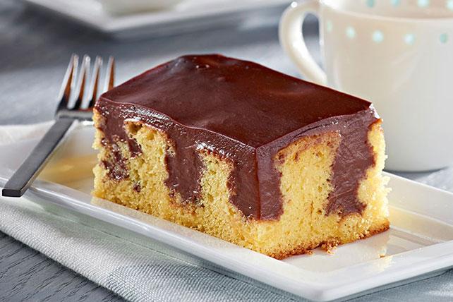 Gâteau à trous au pouding Image 1