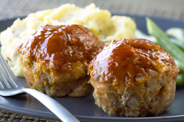 Harvest Apple-Meatloaf Muffins