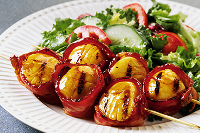 Honey-Garlic Scallop Kabobs Image 1