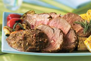 Rôti de côte de bœuf aux fines herbes et à la moutarde