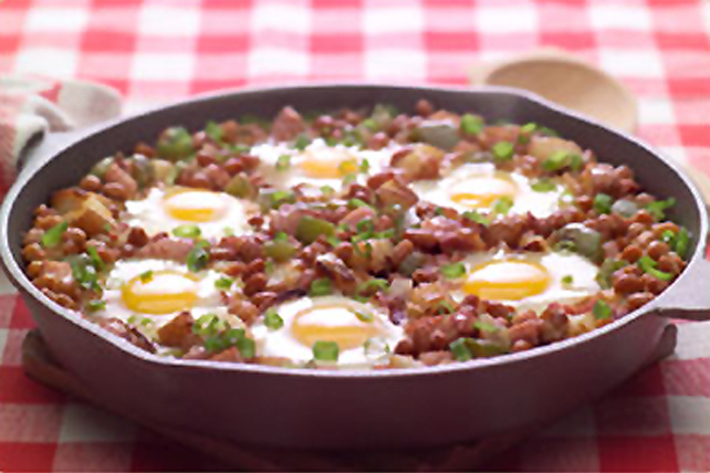 Sensational Potato, Bean and Egg Skillet Image 1
