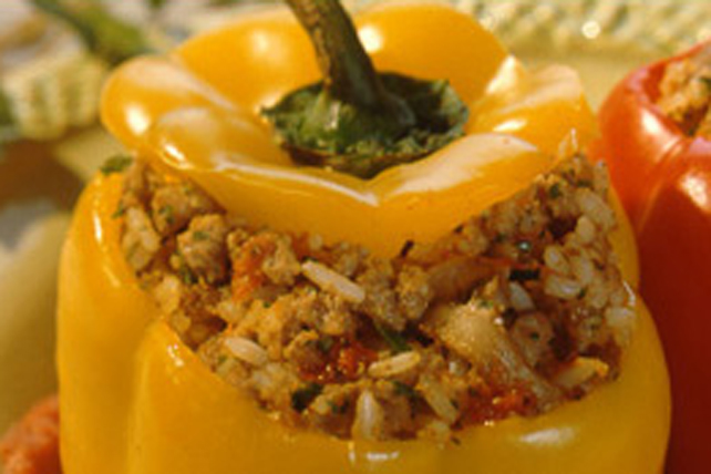 Beef-and-Rice Stuffed Peppers Image 1