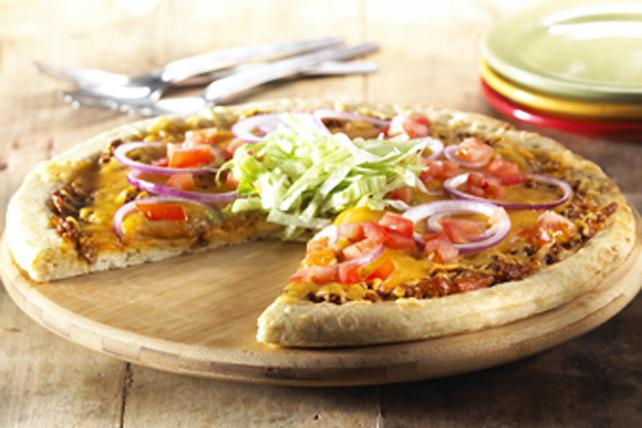 Pizza façon burger au fromage Image 1