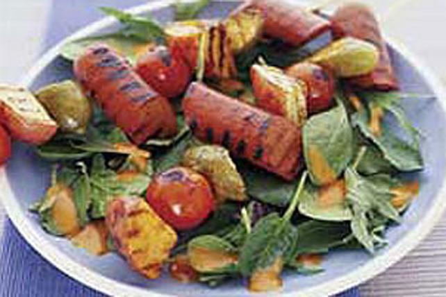 Brochettes de saucisses à hot dog grillées Image 1