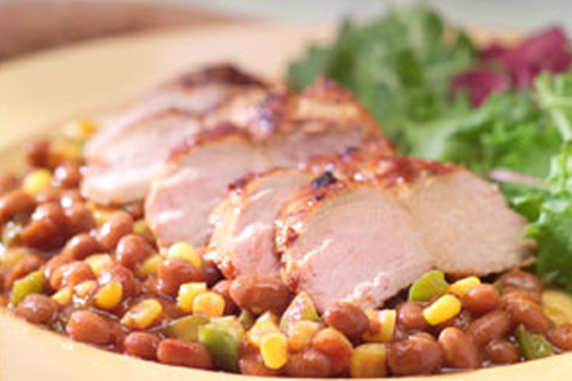 New Orleans Grilled Pork and Beans Image 1