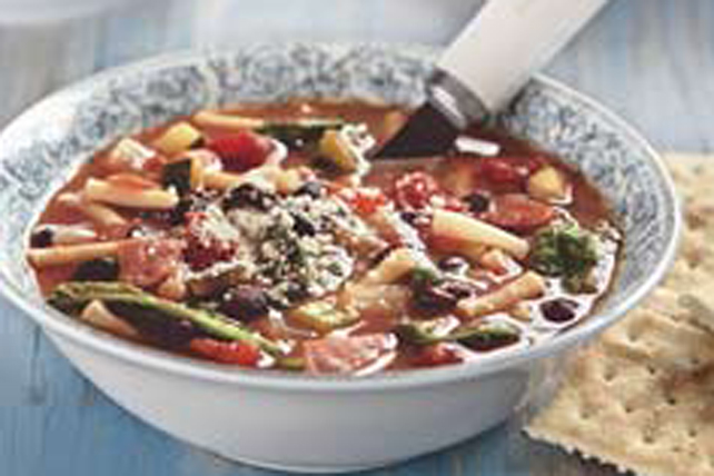 Soupe minestrone aux haricots noirs Image 1