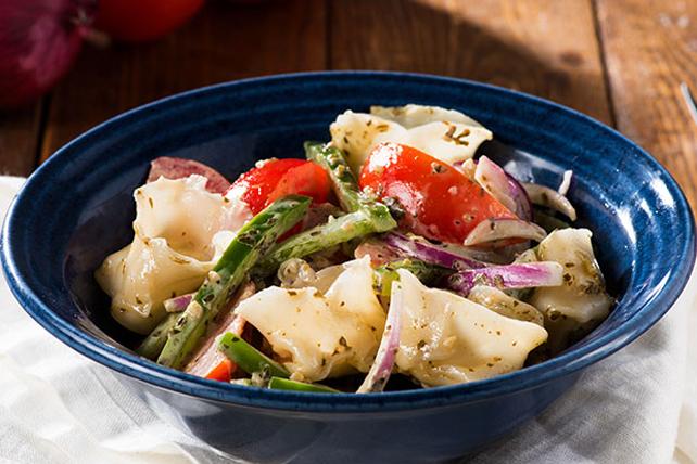 Salade de pâtes au pesto vite faite Image 1