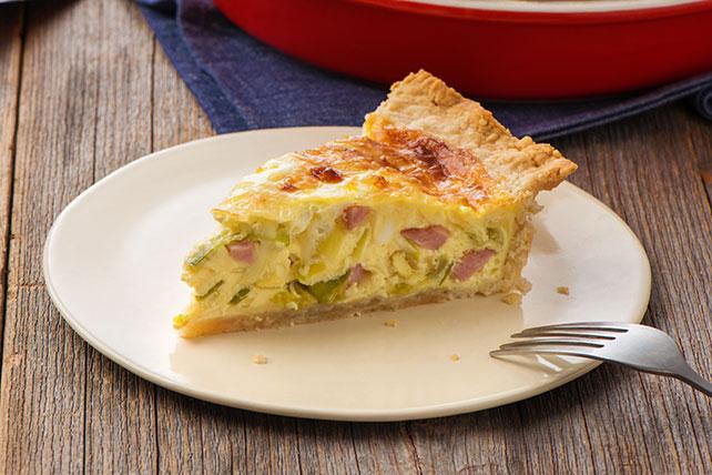 Savoury Leek & Ham Quiche Image 1