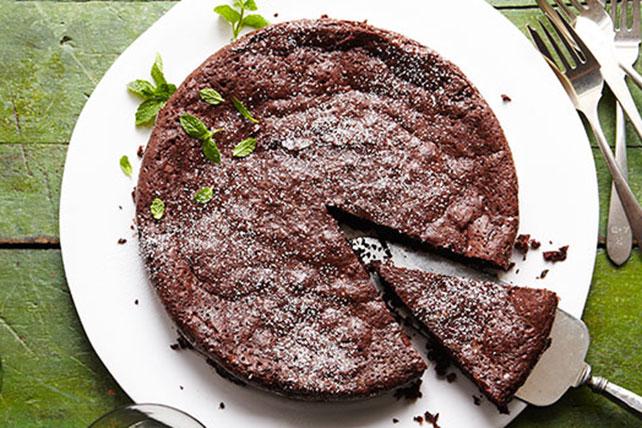 Gâteau au chocolat et à la menthe sans farine Image 1