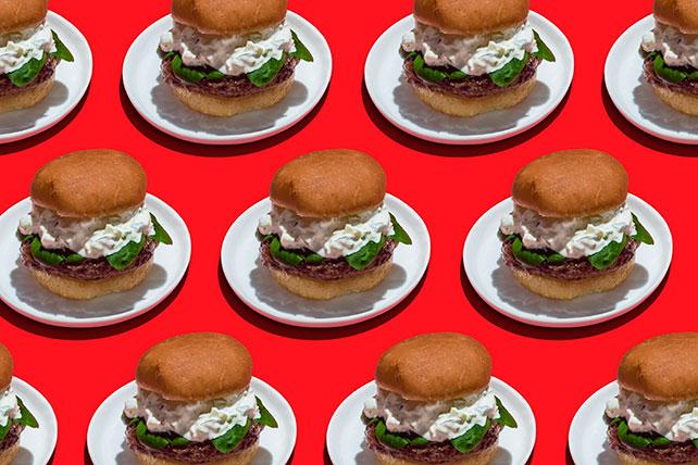 Lamb Burgers with Tzatziki Sauce Image 1