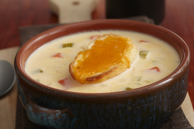 Velvety Grilled Cheese Soup Image 1