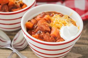 Turkey Sausage Sweet Potato Chili
