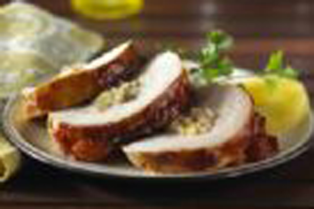 Pineapple-Walnut Stuffed Turkey Breast Image 1
