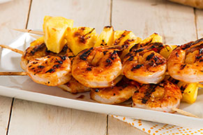 Ginger & Pineapple Grilled Shrimp Kabobs