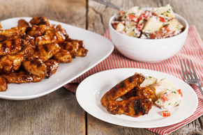 Low & Slow Grilled BBQ Chicken Wings with Foil-Pack Potato Salad