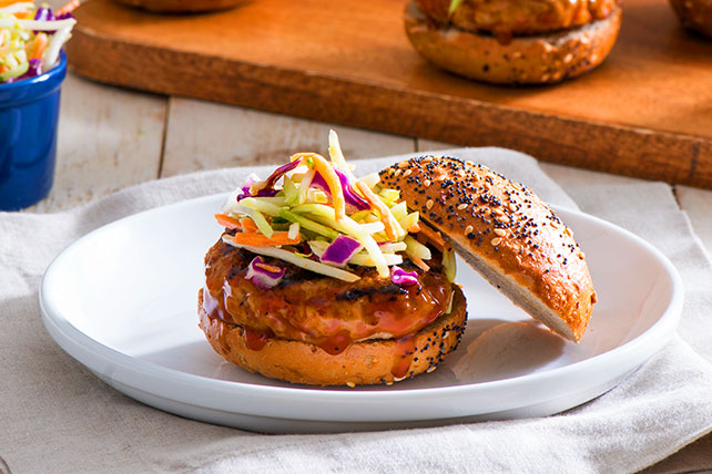 BBQ Pork Burgers with Coleslaw Image 1