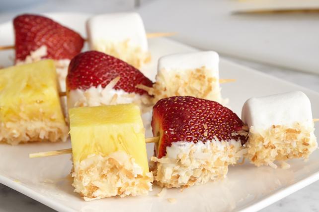 Divines brochettes de fraises au chocolat blanc Image 1
