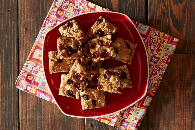 Blonde Brownies with White Chocolate and Cranberries Image 1
