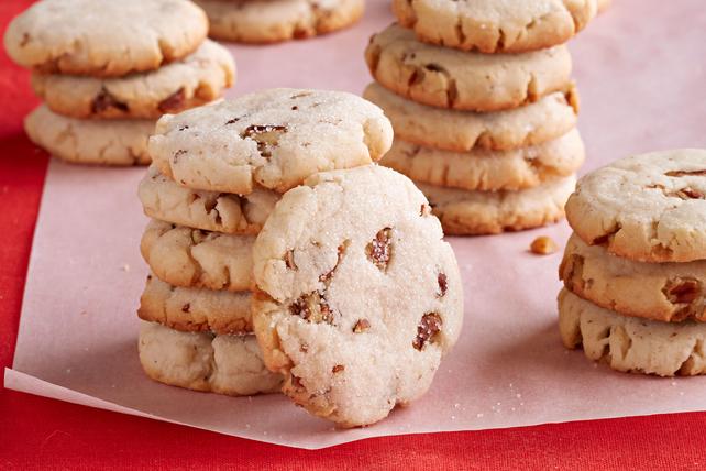 Galletas cuadradas de mantequilla con nueces pecanas y queso crema Image 1