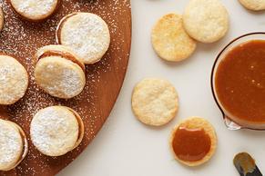 Galletas de alfajor de caramelo