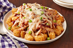 Cranberry-BBQ Turkey Totchos