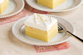 Pastel de limón mágico en capas