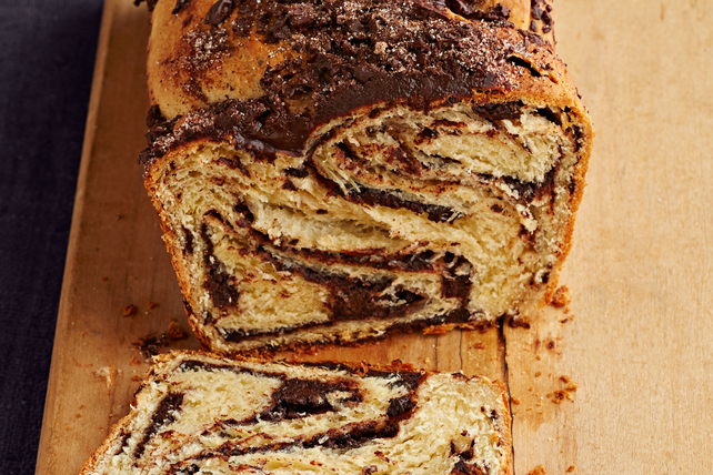 Babka (pastel) con remolinos de chocolate Image 1