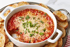 Dip de berenjena y queso parmesano