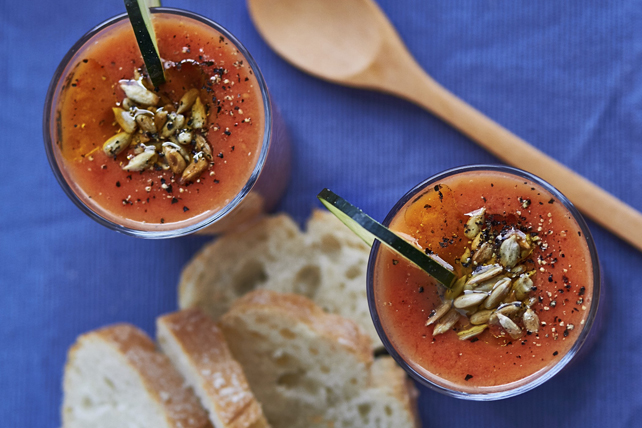 Gazpacho with Sunflower Seeds Image 1