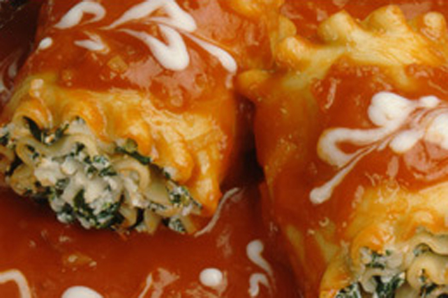 Three-Cheese Lasagna Roll-Ups