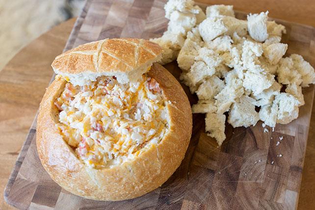 Tartinade chaude au bacon et au fromage Image 1