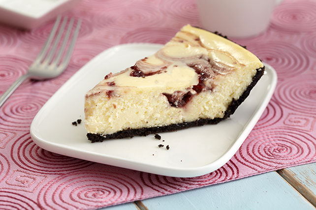 PHILADELPHIA 3-Step White Chocolate-Raspberry Swirl Cheesecake