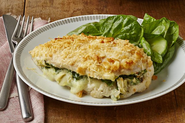 Spinach & Artichoke Dip-Stuffed Chicken Breasts Image 1