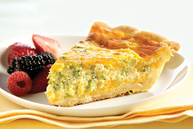 Broccoli-Cheddar Quiche Image 1