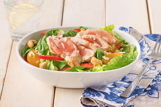 Salade de poulet et d'épinards à la polynésienne  Image 1