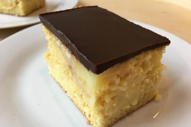 Boston Cream Pie-Poke Cake Image 1