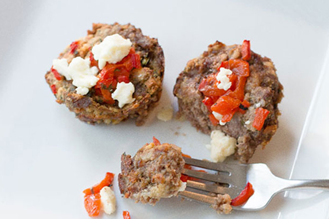 Mediterranean-Style Mini Meatloaves Image 1