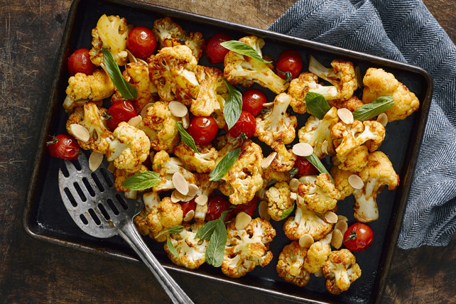 Oven-Roasted Cauliflower with Cherry Tomatoes Image 1