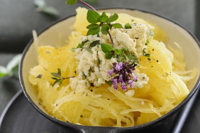 Courge spaghetti toute simple au féta Image 1